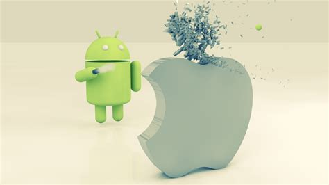 android to apple 1920x1080 apple vs android desktop pc and mac wallpaper