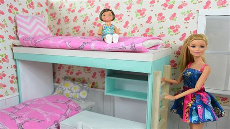 how to make a barbie bed barbie movie how to make a barbie bunk bed complete bedroom my crafts and diy