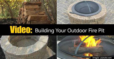 building an outdoor firepit building your outdoor pit