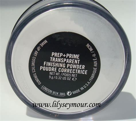 Mac Translucent Powder fierce fabulous 50 mac prep