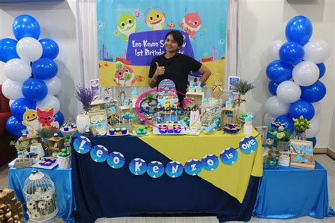 baby shark themed party candy buffet kota kinabalu sabah baby shark birthday theme