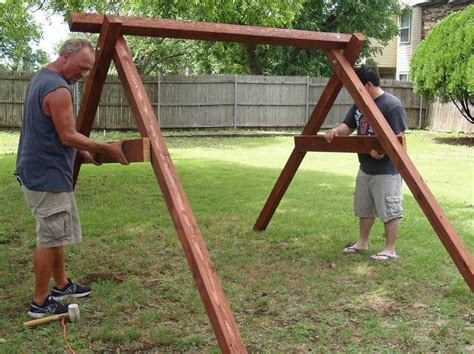how to build a backyard swing frame exactly how to build a swing in about an hour