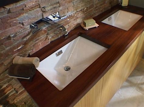 bathroom wood countertop how to install a bathroom countertop and undermount sinks