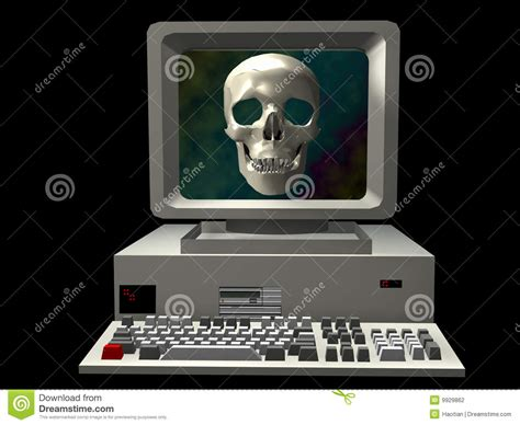 pc horror themes horror computer stock illustration illustration of