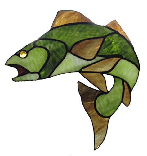 buck glass fish fish best stained glass patterns