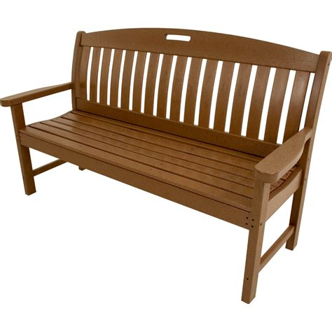all weather outdoor benches hanover outdoor avalon 60 in all weather bench teak