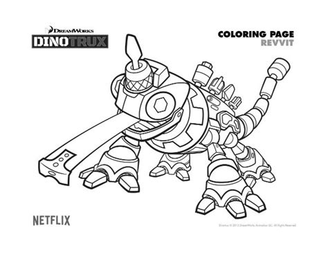 dino truck coloring page free dinotrux revvit coloring page mama likes this