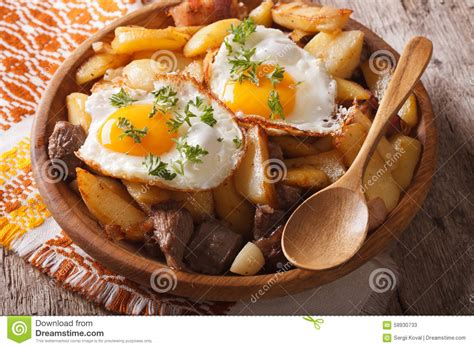 cucina patate cucina tirolese patate fritte con carne ed il primo piano