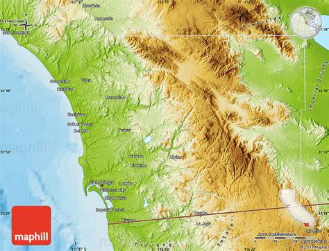 Search San Diego County Physical Map Of San Diego County