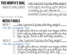 setting a monthly health fitness goal printable planner