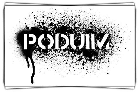 spray paint logo capture podium spray logo