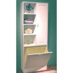 Pull Out Bathroom Storage 4d Concepts White Bathroom Tower With Pull Out Her At Hayneedle
