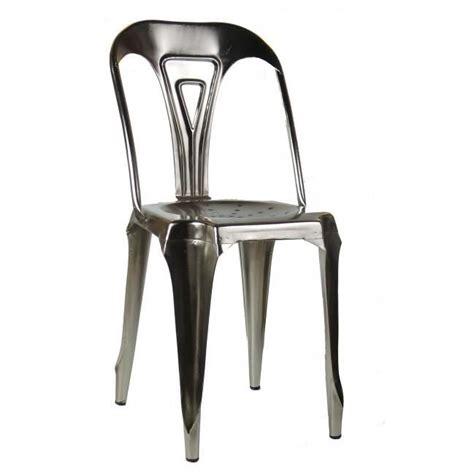 chaise style industriel chaise style industriel en m 233 tal vintage fer naturel