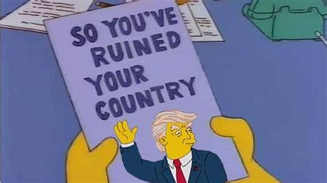 the best simpsons donald trump memes four finger discount
