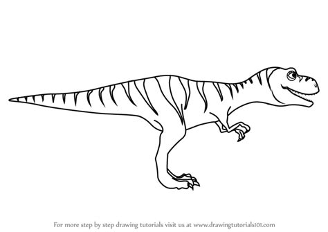 one t draw learn how to draw boris tyrannosaurus from dinosaur