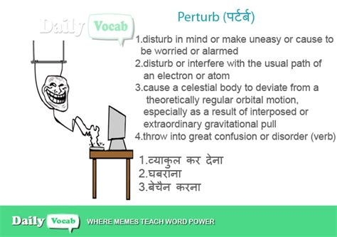 Plumb Verb by Perturb Meaning In With Picture Dictionary