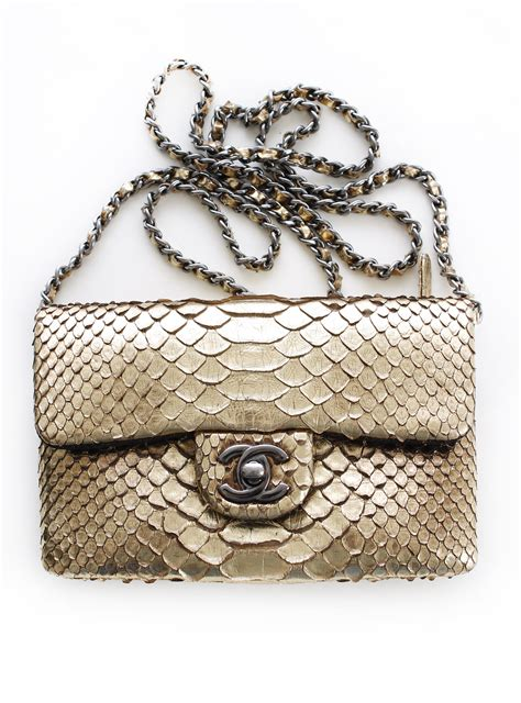 Chanel Richie And Chanel Python Tote by Chanel Python Handbag 6600 Or Best Offer Chanel