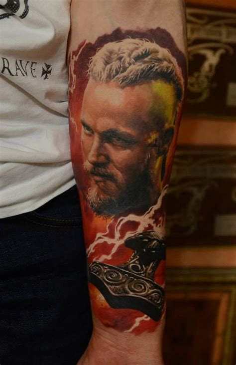 ragnar lothbrok tattoo anyone watch quot the vikings quot on the history channel if not
