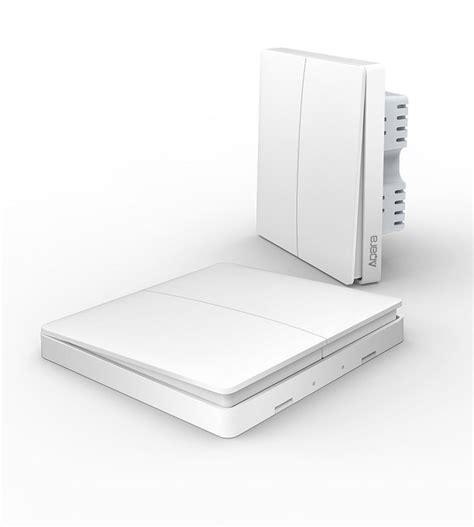 dual smart light switch xiaomi aqara smart light control zigbee dual wall switch