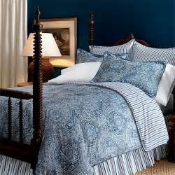 ralph lauren townsend blue and white paisley twin