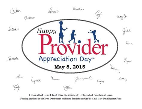 appreciation letter to daycare provider 21 best images about provider appreciation day on