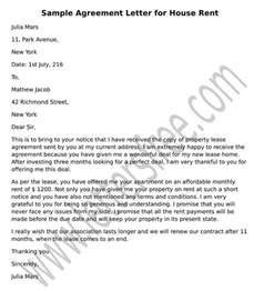 Rent House Letter Sle Agreement Letter For Debt Settlement Agreement Letter Format