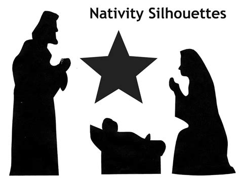 nativity silhouette template best photos of printable nativity silhouettes free