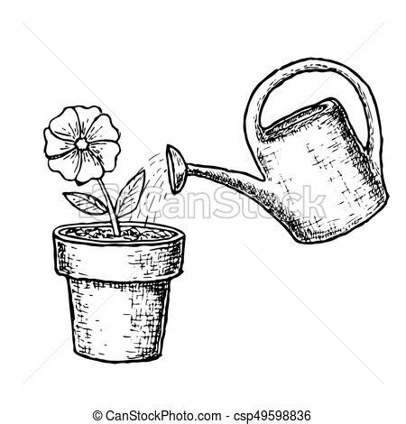 Drawings Of Watering Cans
