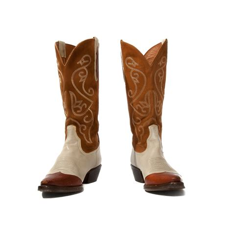 two toned boots vintage nine west cowboy boots two tone western boots