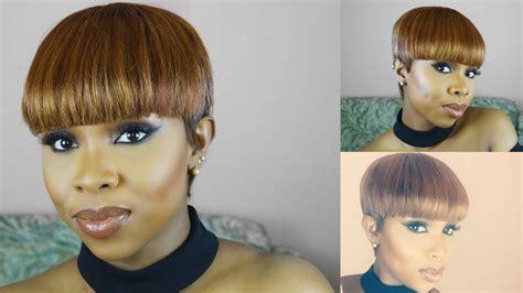 diy pixie haircut with clippers diy mushroom pixie cut wig tutorial using milkyway 27 pcs