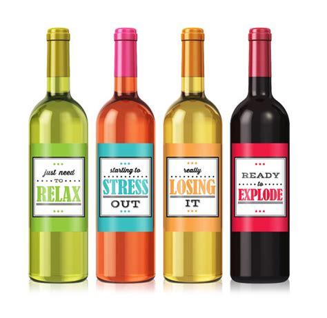 cheer up wine label set personalized wine label custom