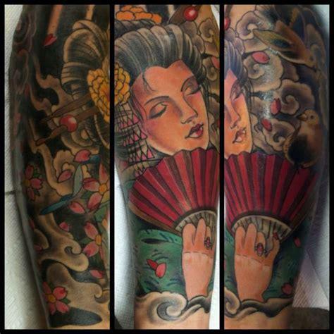 tattoo expo gettysburg sasha67 geisha with fan sleeve color geisha japanese