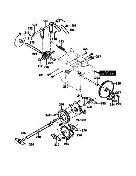 craftsman snowblower parts diagram size