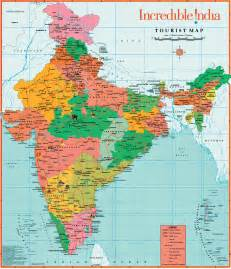 India On The Map by Tourist Map Of India Tourism Map India