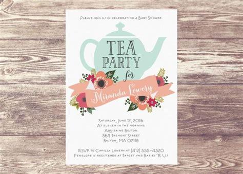 Tea Baby Shower Invitations Ideas by Printed Baby Shower Tea Invitation Custom