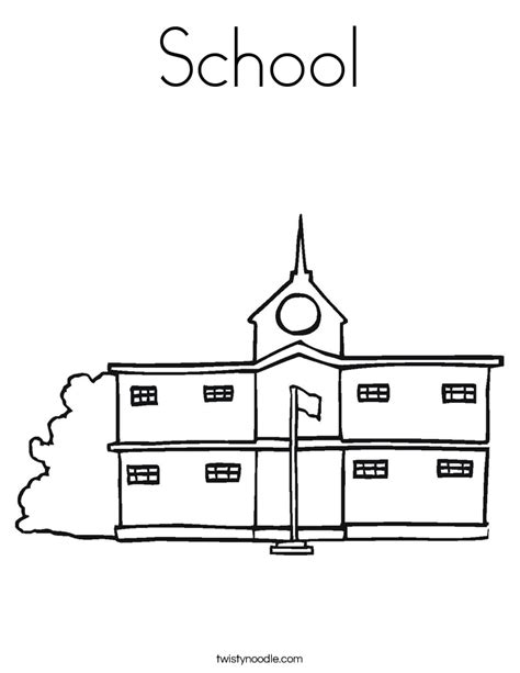 coloring pages for school building coloring page of a school building coloring home