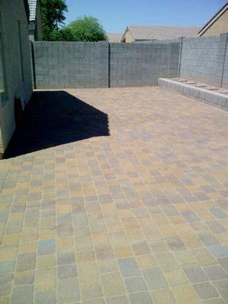 pavers large backyard patio sledge concrete coatings