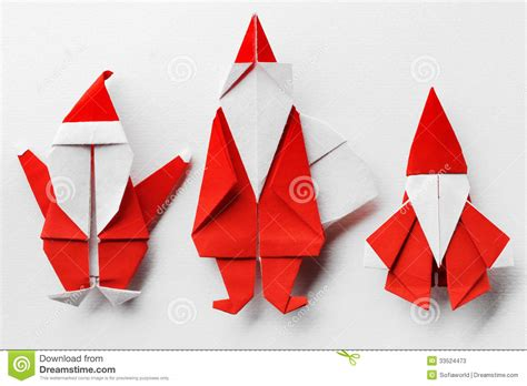santa claus paper craft santa claus stock illustration image of origami