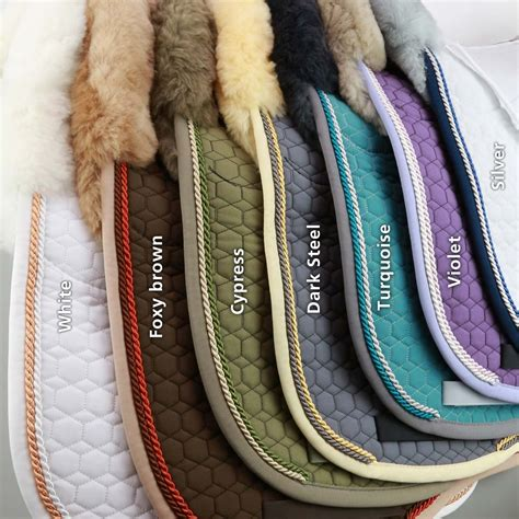 mattes pad mattes fit couture sheepskin dressage pad quot foxy brown quot