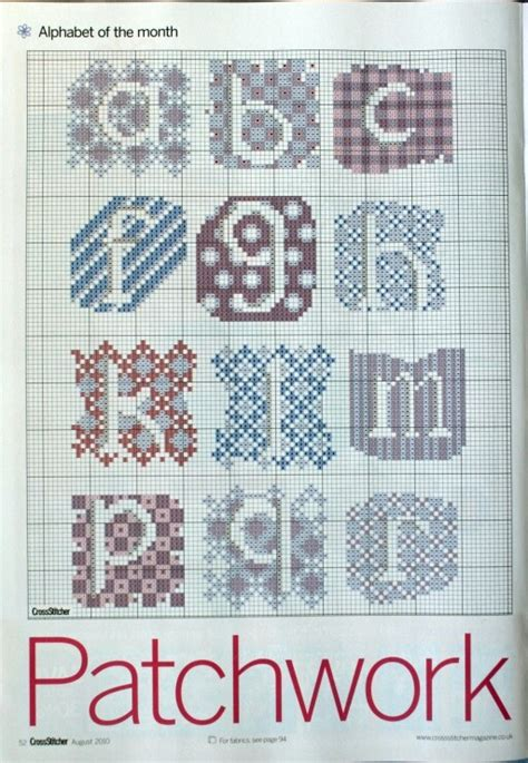 Patchwork Letters Template - 395 best images about cross stitch alphabets on