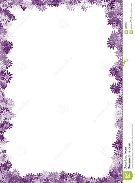Bordir Purple purple flower clipart frame design pencil and in color purple flower clipart frame design