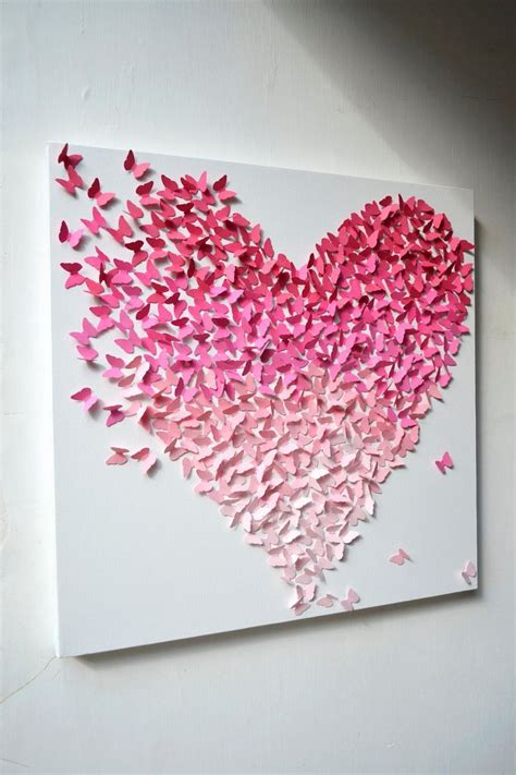 bedroom walls diy butterfly wall decor art ideas for and 20 diy innovative wall art decor ideas that will leave you