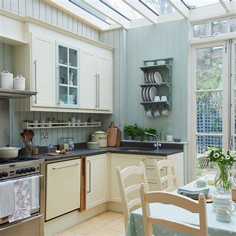 Kitchen Design Ideas Uk by Pale Blue Kitchen Conservatory Conservatory Ideas