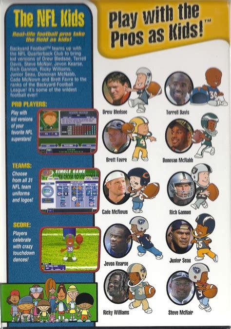 backyard football 2001 backyard football 2002 2001 macintosh box cover art