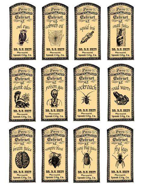 magic potions apothecary labels redbudart