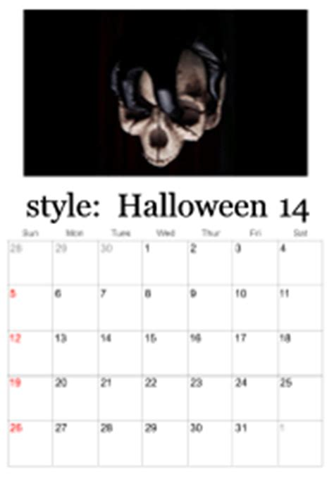 printable halloween calendars calendar templates