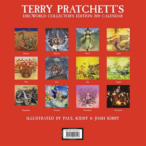 terry pratchetts discworld collectors 147321811x terry pratchett s discworld collector s edition deluxe calendar 2018 calendar club uk