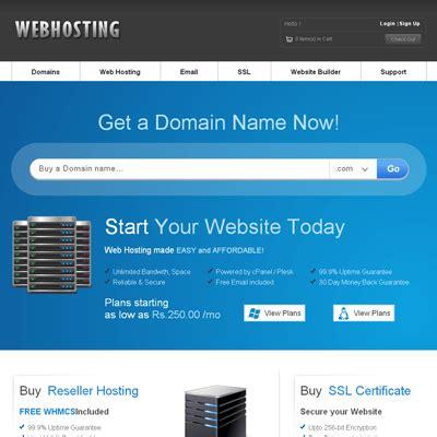 web hosting domain sales mobile web template