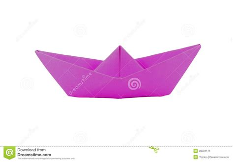 Pink Origami Paper - origami pink paper boat stock image image 30331171