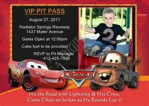 cars birthday invitations lightning mcqueen by lifesdigitaldesigns